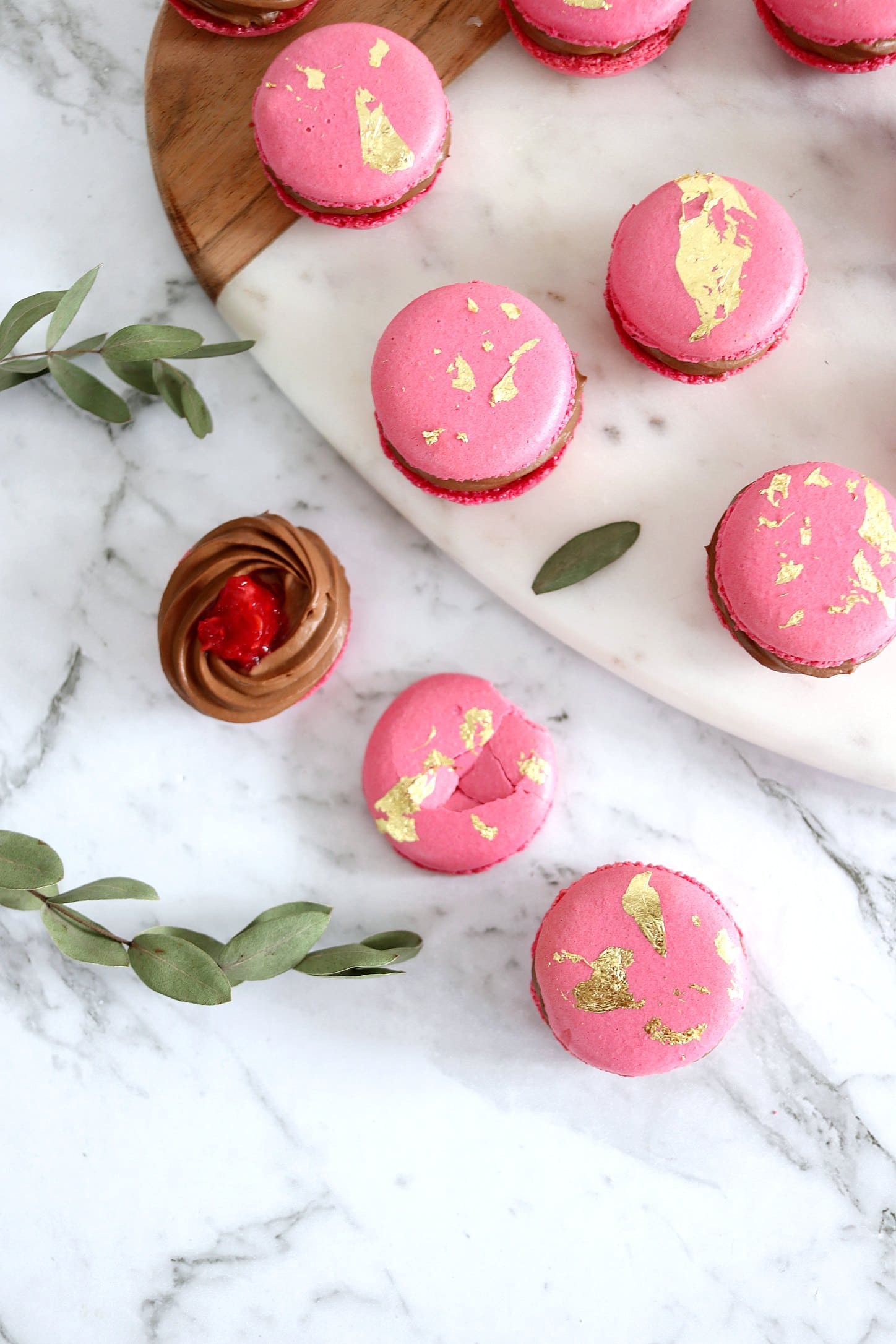 Earl Grey Tea and Raspberry Macarons