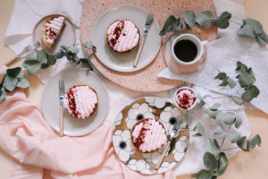 Easy raspberry and rose millefeuille tarts